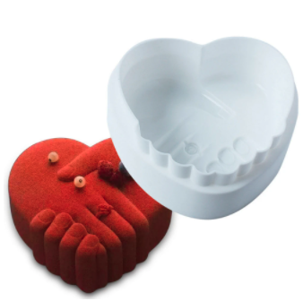 Silicone Heart-Shaped Heat Resistant Cake Decorating Mold