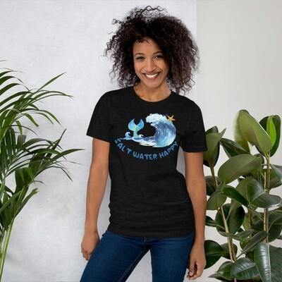 Salt Water Happy Short-Sleeve Unisex T-Shirt