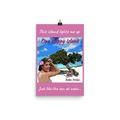 One Happy Island Photo paper poster