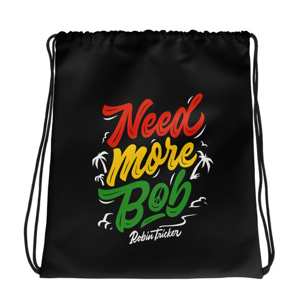 Need More Bob Black Drawstring bag