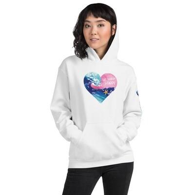 Salt Water Happy Heart Hooded Sweatshirt