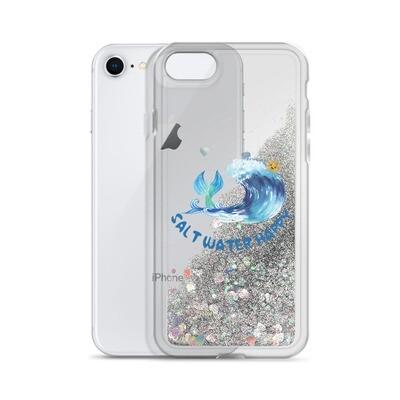 Salt Water Happy Liquid Glitter Phone Case