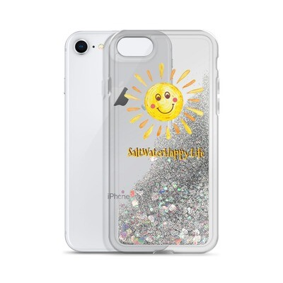 Salt Water Happy Sun Liquid Glitter Phone Case