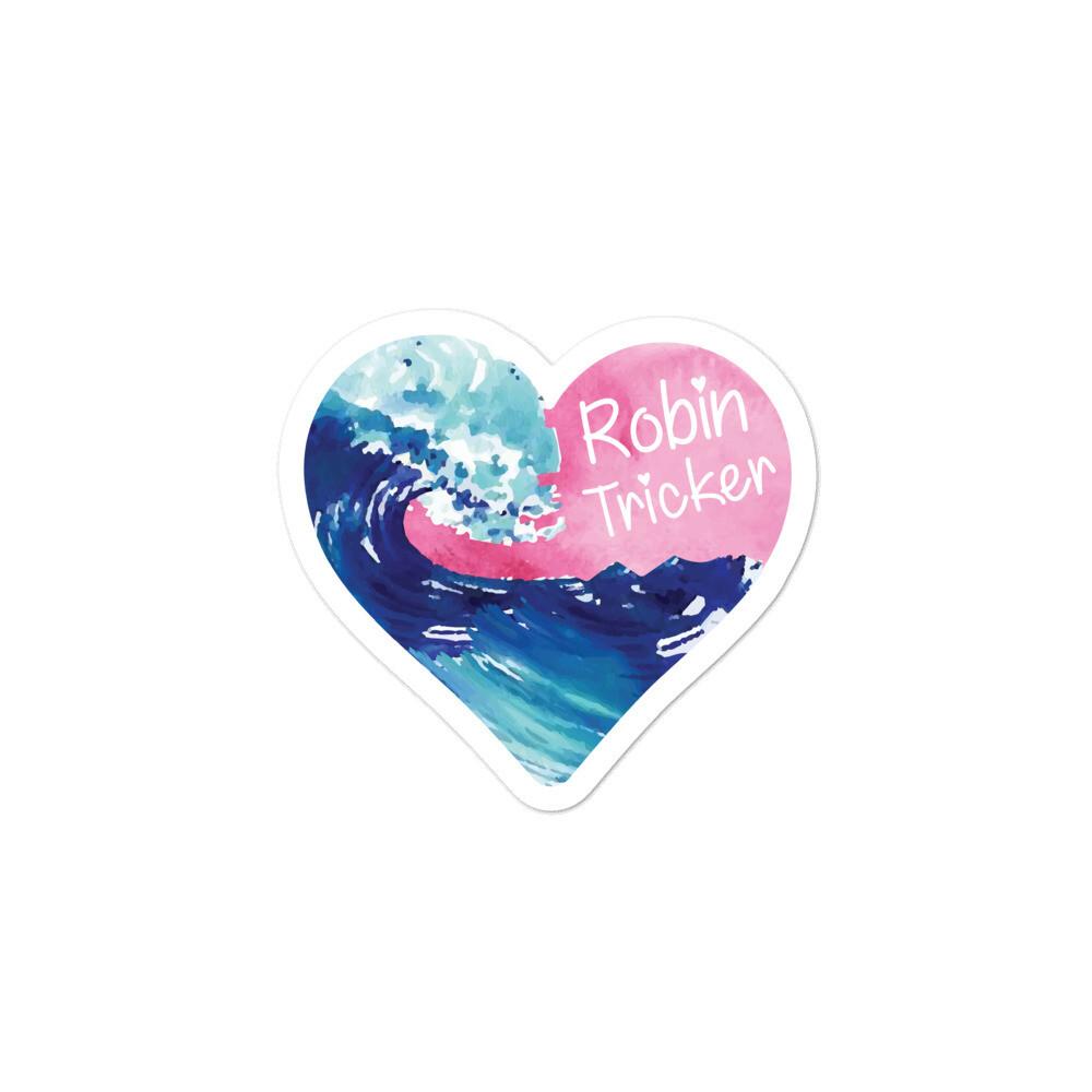 Robin Tricker Heart Bubble-free stickers