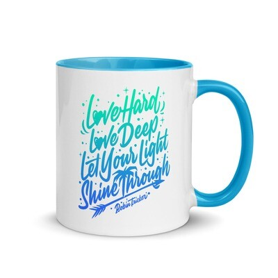 Love Hard, Mug with Color Inside