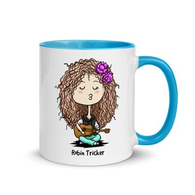 Ukulele Girl Mug with Color Inside