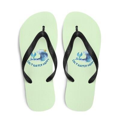 Salt Water Happy Green Flip-Flops
