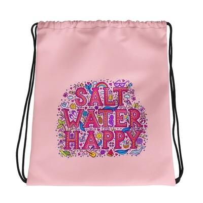 Salt Water Happy Drawstring bag