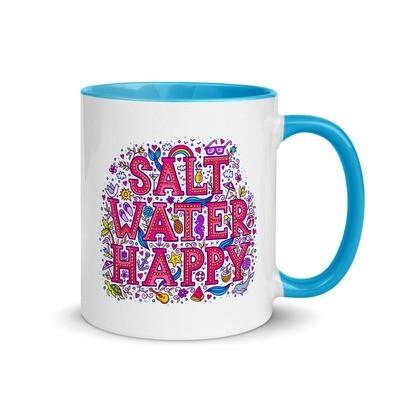 Salt Water Happy Mug with Color Inside
