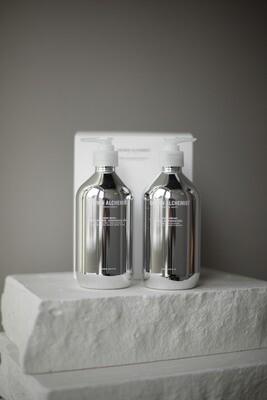"""Подарочный набор для рук Grown Alchemist: Жидкое мыло для рук """"Сладкий апельсин, кедр и шалфей"""", 500 мл + Крем для рук """"Ваниль и апельсин"""", 500 мл"""