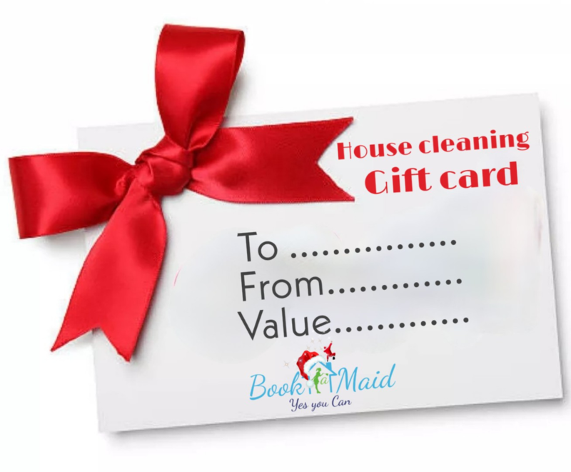 House cleaning gift card packages