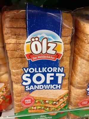 Oelz Pain Complet Soft Sandwich 1x750g