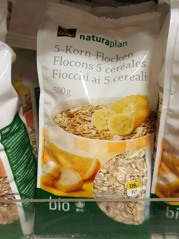 Naturaplan Bio Flocons 5-Céréales 1x500g