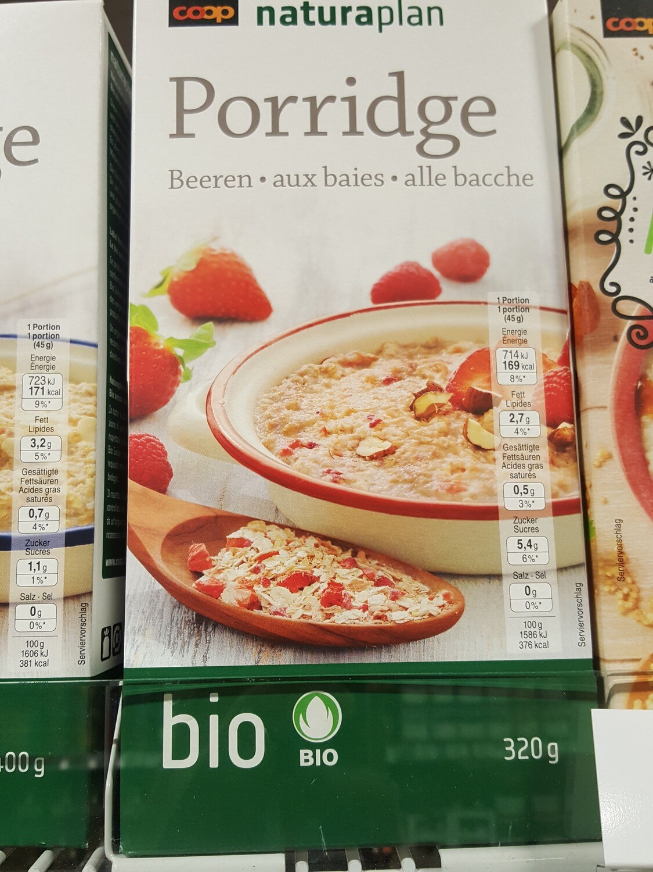 Naturaplan Bio Porridge Baies 1x320g