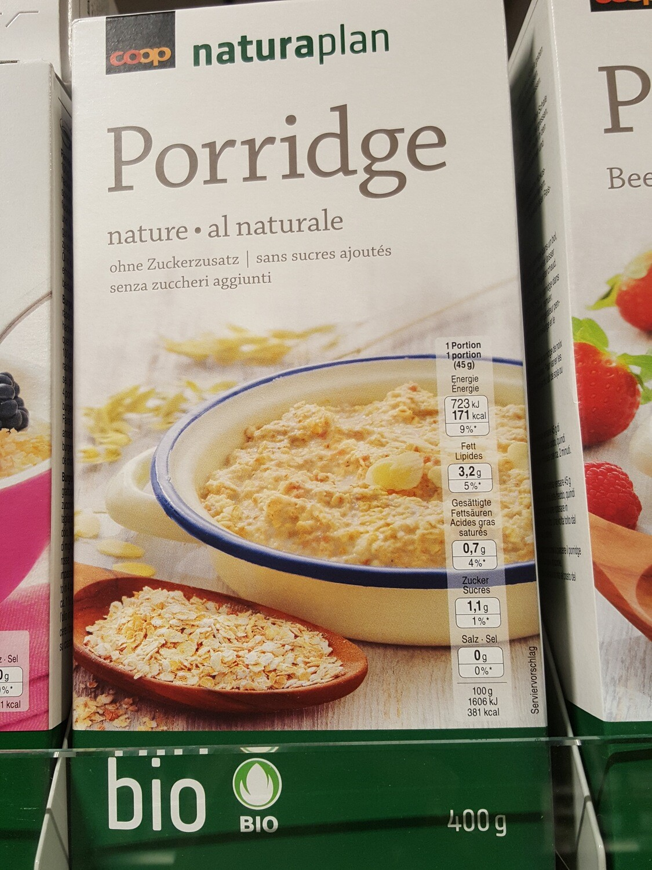 Naturaplan Bio Porridge Nature 1x400g