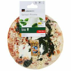 Naturaplan Bio Betty Bossi Pizza avec ricotta & épinards 1x180g