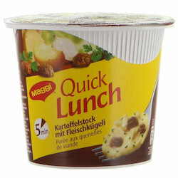 Maggi Purée de pommes de terre avec quenelles de viande Quick Lunch 51g