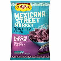 Old El Paso Chips tortillas de mais bleu au sel de mer Street Market 150g