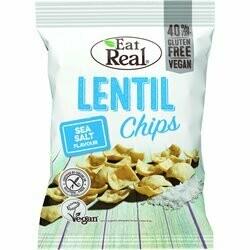 EatReal Chips de lentilles au sel de mer 113g