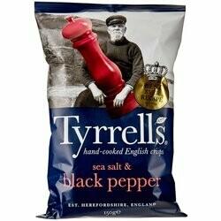 Tyrrells Chips Salt & Black Pepper 150g