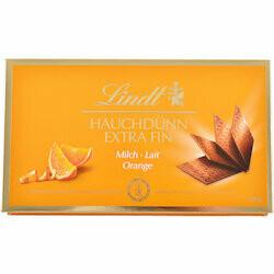Lindt Carrés de chocolat au lait à l'orange extra fin 180g