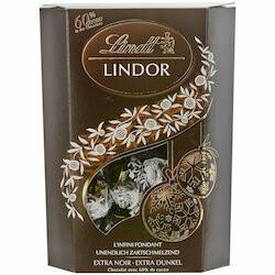 Lindt Boules de chocolat Lindor noir 60% avec fondant 362g
