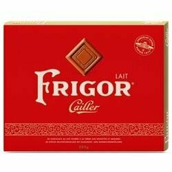Cailler Chocolats au lait fourrés crème d'amandes Frigor 40 carrés 280g