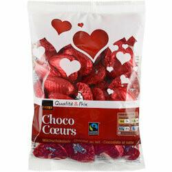 Fairtrade Coeurs au chocolat au lait 200g