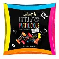 Lindt Chocolats Hello Partylicious au lait fourrés assortis 200g
