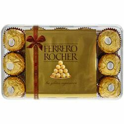 Rocher Pralinés avec boîte de Noël 30 pièces 375g