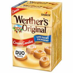 Werther's Original Mini sans sucre 2x42g 84g