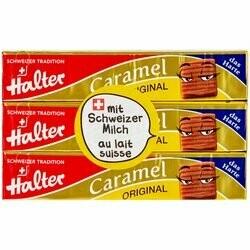 Halter Caramels 3 paquets 195g