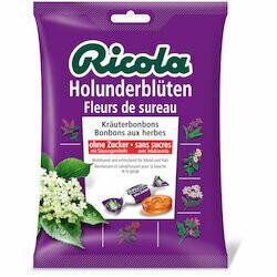 Ricola Pastilles aux fleurs de sureau sans sucre 125g
