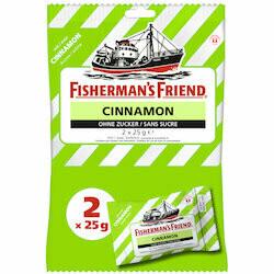 Fisherman's Friend Pastilles à la cannelle sans sucre 2x25 g. 50g