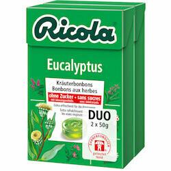 Ricola Pastilles à l'eucalyptus sans sucre 2x50g 100g