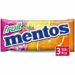 Mentos Pastilles aux fruits 3 paquets 114g
