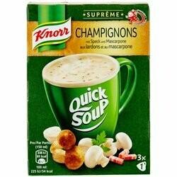 Knorr Suprême Préparation potage de champignons aux lardons et au mascarpone 48g