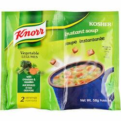 Knorr Préparation pour soupe aux légumes instantanée kasher 68g
