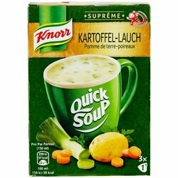 Knorr Potage pommes de terre & poireaux Quick Soup 3 portions 48g