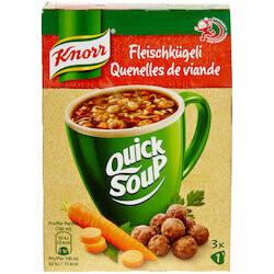 Knorr Quick Soup Préparation potage aux quenelles de viande 22g