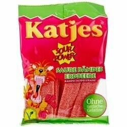 Katjes Bandeaux gummie à la fraise Sour Power 200g
