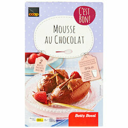Betty Bossi Mélange mousse chocolat 2x80g 160g