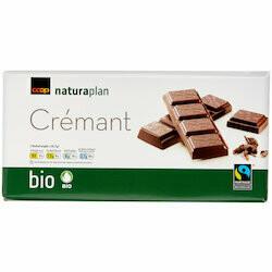 Naturaplan Bio Fairtrade Plaque de chocolat noir Crémant 100g