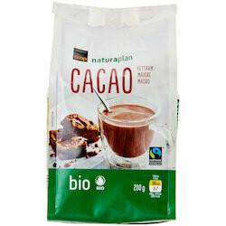 Naturaplan Bio Fairtrade Cacao en poudre maigre 200g