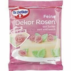 Dr. Oetker Décorations de roses fines 6pce
