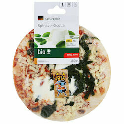 Naturaplan Bio Betty Bossi Pizza avec ricotta & épinards 180g