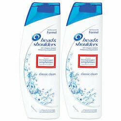 Head & Shoulders Shampooing Classic Clean 2x300ml 600ml