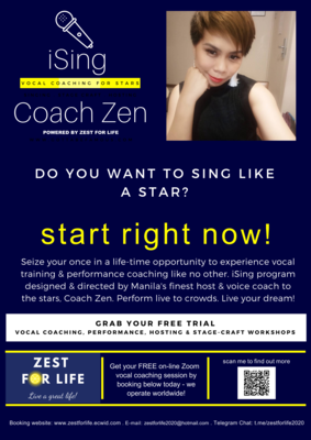 FREE taster on-line vocal coaching session