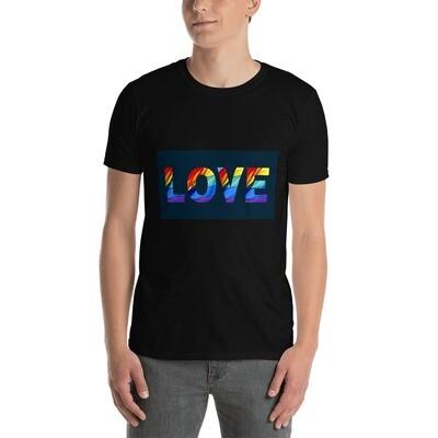 LGBTQ+ LOVE Positive Pride Short-Sleeve Unisex T-Shirt