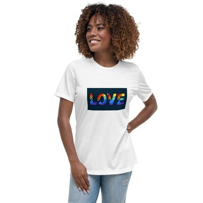 LGBTQ+ LOVE Positive Pride Short-Sleeve Women's Relaxed T-Shirt